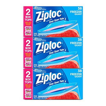 Bolsas Ziploc Quart Freezer, 114 Count