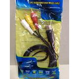 Cable Audio Video Sega Genesis Modelo 1 High Grade