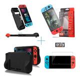 Estuche Bolso Nintendo Switch Mica Vidrio Rigido Protector