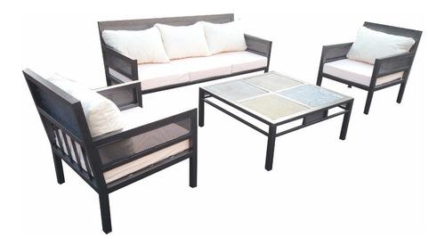 Juego De Living Fierro Muebles Y Terrazas 5 Personas