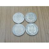Moneda Chilena De 10 Pesos Años 1977 - 1978 - 1979 - 1980