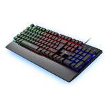 Teclado Gamer Xtech Arminger Usb Led C/apoya Muñ Xtk-510s