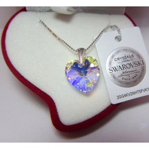 Corazón De Swarovski ® Elements Con Plata - 14 Mm