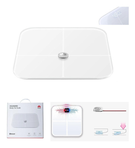 Pesa Inteligente Huawei Balanza Bluetooth Smart Pro Fitness