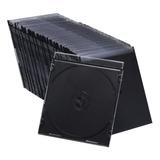 Caja Plastica Cd Slim 5.2 Mm Pack 100 Uni. Calidad Premium