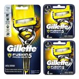 Pack Maquina Afeitar Gillette Fusion Proshield + 8 Repuestos