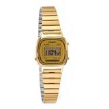 Reloj Retro Casio Dorado Gold De Mujer La 670 Wg Vintage