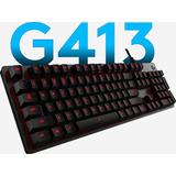 Teclado Mécanico Gamer Logitech G413 Carbon Switc Rojo