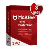 Mcafee 2020 Total Protection 3 Años 3 Pc Tecnoarte
