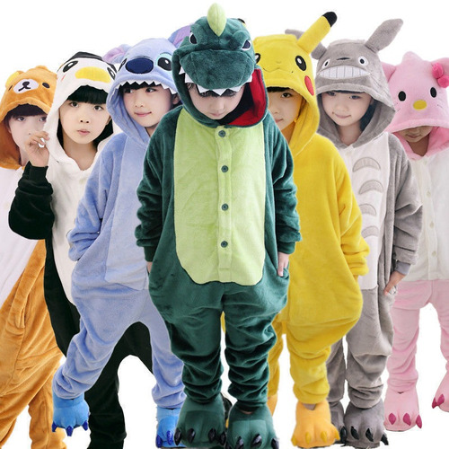 Pijama Animales Enteros- 4 A 12 Años- Niños Niñas Kigurumi a9cc92e068d8