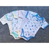 Pack De 2 Body Estampado Manga Corta 100% Algodón Para Bebé