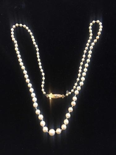 8b2432158dfa Antiguo Collar De Perlas Cultivadas Naturales