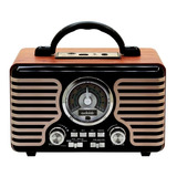 Radio Parlante Retro Vintage Am Fm Bluetooth Bateriaaudiolab