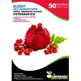 Papel Adhesivo Glossy  A4/135g 250hojas Antioxido Envio Incl