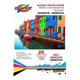Papel Fotografico Adhesivo 20 Hojas A4 Alta Resolucion