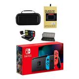 Consola Nintendo Switch Neon Lt2+bolso+mica+portajuegos