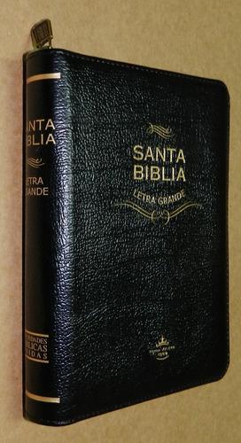 Biblia Reina Valera Letra Mediana Cuero Fabricado 103760-1