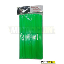 Cubre Rayos Moto Cross 24cm De Largo 70pcs Color Verde Fluor