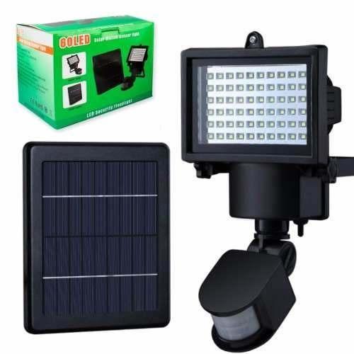 Foco 60 Led Solar Grande 4.5vol + Luz + Sensor Mov R1070