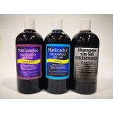 10 Shampoo Matizador Azul, Violeta,grafito, Rojo Color Surt.