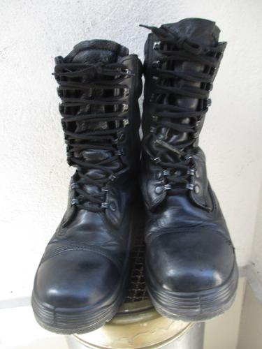 8606b5eca334f Bototos Militar De Cuero Color Negro N° 41