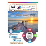 Papel Foto Glossy Doble Cara A4 De 200gr / 50 Hojas Tinplus