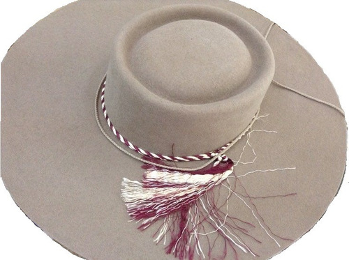 Sombrero De Huaso Paño Lana Nuevo Original ac029e94b96