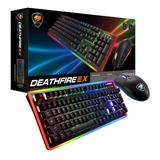 Kit Gamer Teclado Mecánico + Mouse Cougar Deathfire Ex Rgb