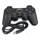 Joystick Control Alámbrico Usb Para Pc Con Dualshock Nuevos