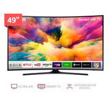 Tv Led Samsung Smart Tv Curvo Un49mu6300 49  4k Ultra Hd