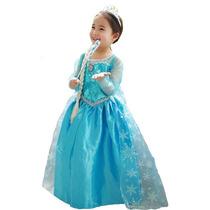 Disfraz Elsa De Frozen Todas Las Tallas Excelentes $ 12.000