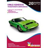 Vinilo Adhesivo Transparente Empavonado A4/20h