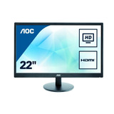 Monitor Aoc 21,5  Panel Tn Full Hd (vga - Hdmi) - E2270swhn