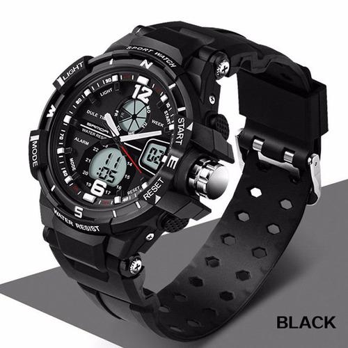 9f7f40307734 Smael Reloj Análogo-digital Para Hombre Color Negro Nuevo. RM  (Metropolitana).   36990. 0 vendidos. Sanda Moda Relojes Hombres Led  Impermeable... (black)