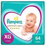 Pañales Pampers Premium Care 64 Unidades Talla Xg