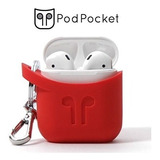Casosblazing Red Podpocket Para Apple AirPods - El Mejor ..