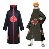Naruto Akatsuki Cloak Cosplay Disfraces Anime Capa Capa Capa