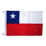 Bandera Chilena En Tela Trevira 90 X 135 Cm