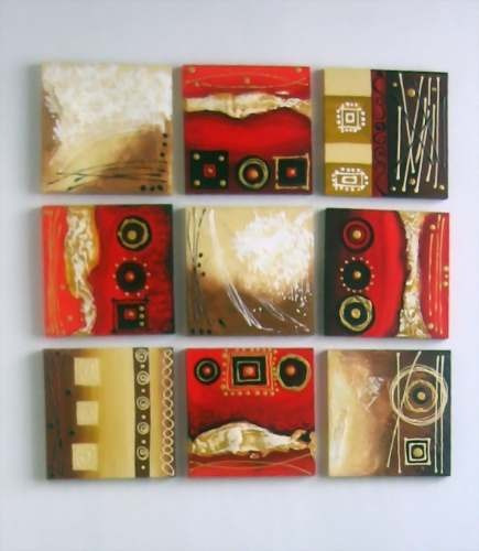 Fotos de cuadros modernos abstractos tnicos con relieves - Cuadro decorativos modernos ...