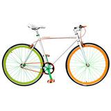 Bicicleta Lahsen Fixed Bike Aro 28  Dynamic Color Blanco