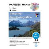 Papel Fotográfico Papeles Mania 135gr Adhesivo Pack 100 Uni