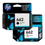 Pack 2 Tintas Hp 662 Original 1015/1515/2515/2545/2645/3515