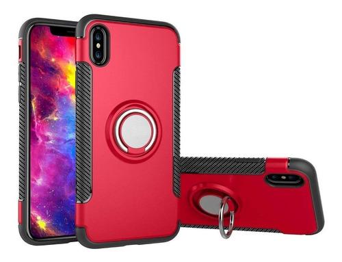 Carcasa Anillo Soporte  iPhone 8 7 6/6s Plus + Lámina Vidrio