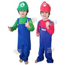 Disfraz Mario Bross O Luigi Tallas 4 A 10 Envíos Gratis ¡¡¡¡