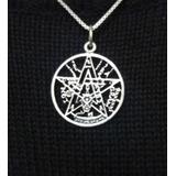 Medalla Tetragramaton (tetragrammaton) Plata Envejecida 3 Cm