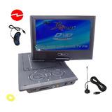 Mini Dvd Televisor Portátil Tv Color, Fm,usb, Sd, 220v/12v
