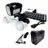 Pack X2 Kit Solar De Camping 3 Ampolletar Adaptadores De Cel