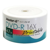 Pack 200 Unidades Dvd-r Virgen Master-g Imprimibles 16x