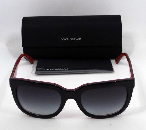 efa692953c Lentes Sol Dolce& Gabbana Dg4197 Negro Gris Degradé Wayfarer