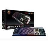 Teclado Gamer Mecanico Rgb Cougar Attack X3 Cherry Español
